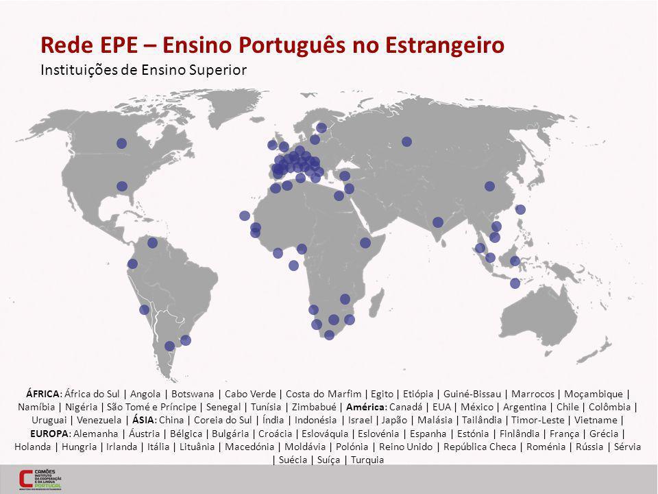 Rede EPE – Ensino Português no Estrangeiro Instituições de Ensino Superior ÁFRICA: África do Sul | Angola | Botswana | Cabo Verde | Costa do Marfim | Egito | Etiópia | Guiné-Bissau | Marrocos | Moçambique | Namíbia | Nigéria | São Tomé e Príncipe | Senegal | Tunísia | Zimbabué | América: Canadá | EUA | México | Argentina | Chile | Colômbia | Uruguai | Venezuela | ÁSIA: China | Coreia do Sul | Índia | Indonésia | Israel | Japão | Malásia | Tailândia | Timor-Leste | Vietname | EUROPA: Alemanha | Áustria | Bélgica | Bulgária | Croácia | Eslováquia | Eslovénia | Espanha | Estónia | Finlândia | França | Grécia | Holanda | Hungria | Irlanda | Itália | Lituânia | Macedónia | Moldávia | Polónia | Reino Unido | República Checa | Roménia | Rússia | Sérvia | Suécia | Suíça | Turquia