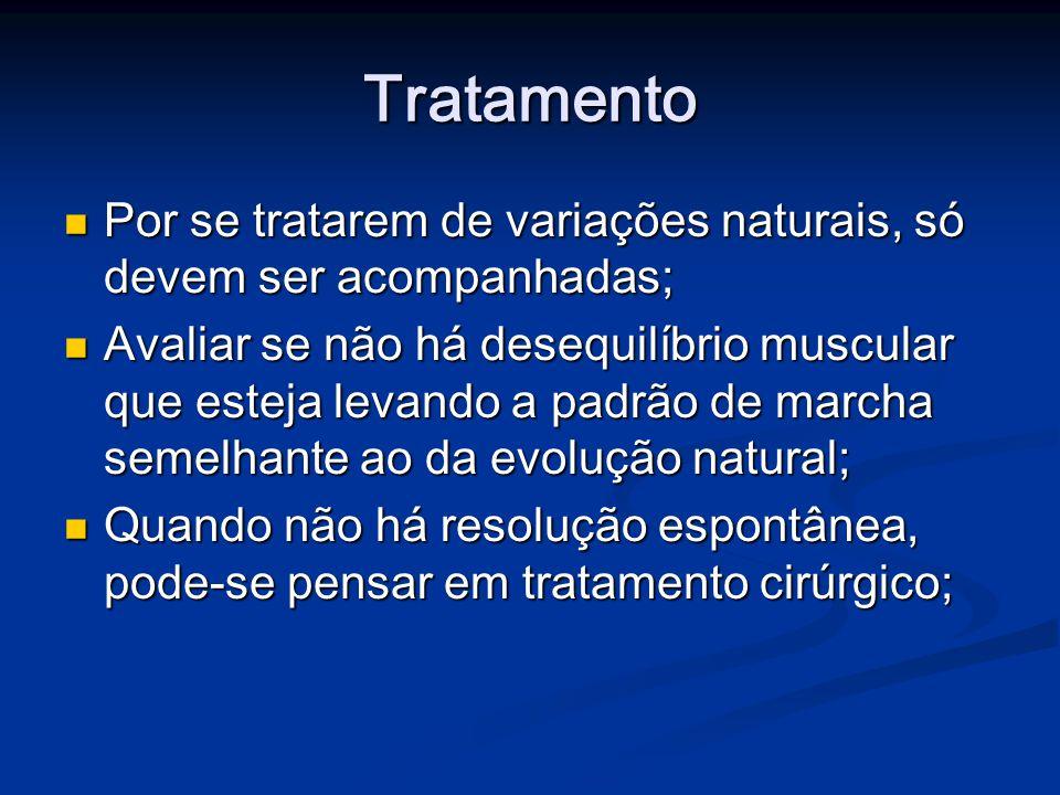 Tratamento Por se tratarem de variações naturais, só devem ser acompanhadas; Por se tratarem de variações naturais, só devem ser acompanhadas; Avaliar