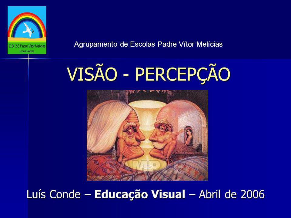 VISÃO - PERCEPÇÃO Agrupamento de Escolas Padre Vítor Melícias Luís Conde – Educação Visual – Abril de 2006
