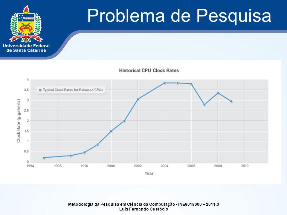 Problema de Pesquisa Metodologia da Pesquisa em Ciência da Computação - INE6018000 – 2011.3 Luís Fernando Custódio