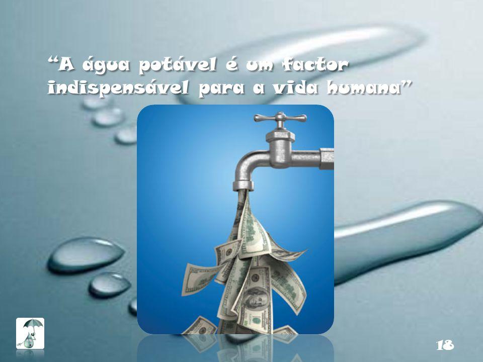 A água potável é um factor indispensável para a vida humana 18