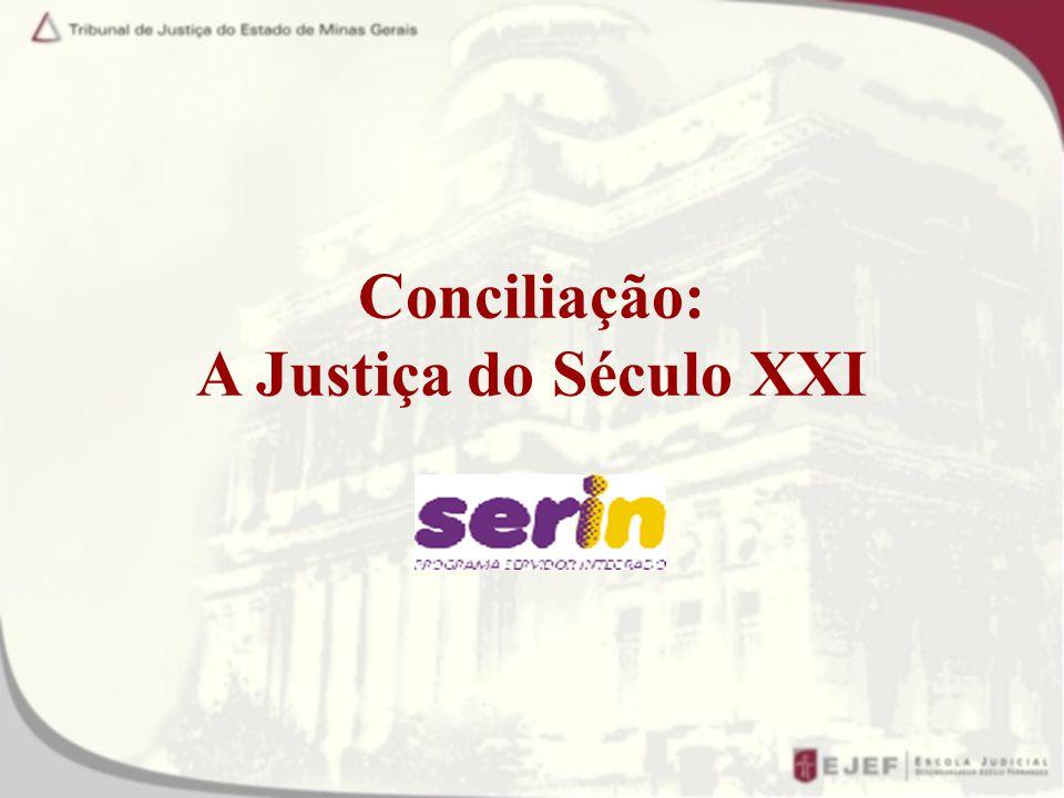 CONCILIAÇÃO JUDICIAL Proporciona um campo propício ao diálogo, onde o conciliador atua como mediador entres as partes e advogados.