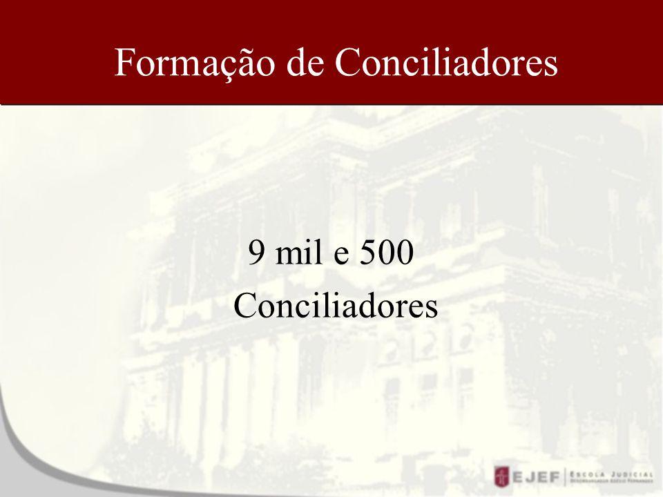 Formação de Conciliadores 9 mil e 500 Conciliadores
