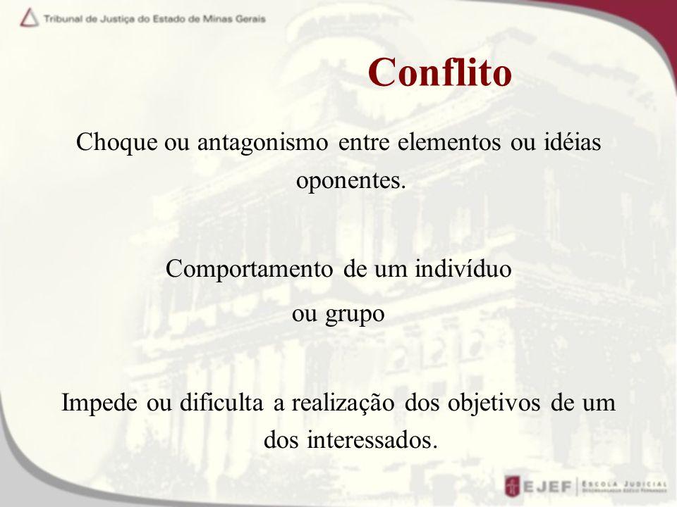 Conflito Choque ou antagonismo entre elementos ou idéias oponentes.