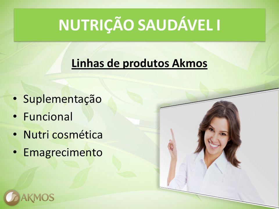 NUTRIÇÃO SAUDÁVEL I Linhas de produtos Akmos Suplementação Funcional Nutri cosmética Emagrecimento