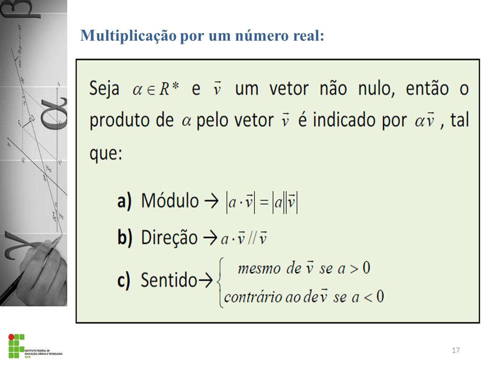 Multiplicação por um número real: 17