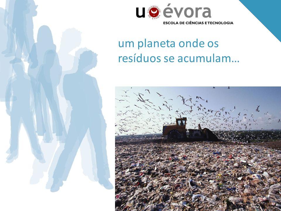 um planeta onde os resíduos se acumulam…