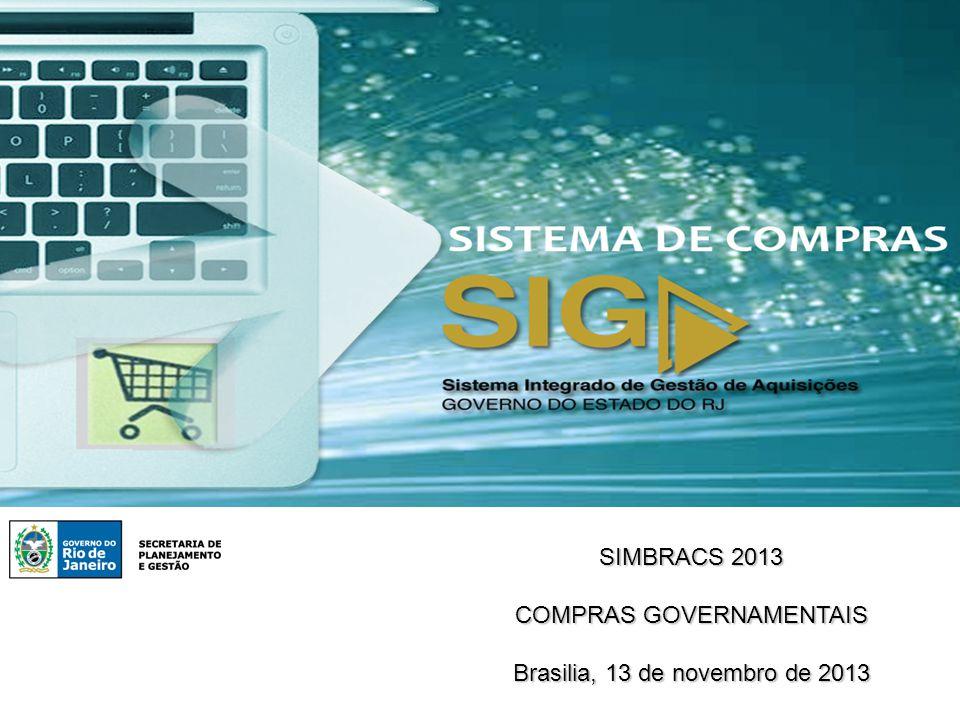 SIMBRACS 2013 COMPRAS GOVERNAMENTAIS Brasilia, 13 de novembro de 2013