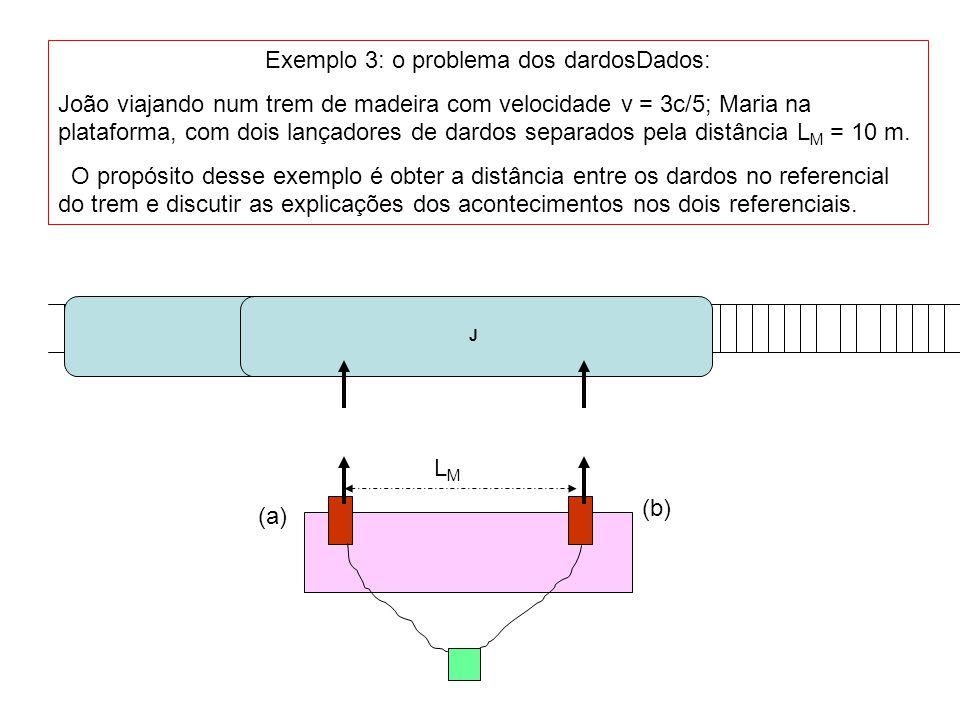 João volta à estação para comparar a distância entre os dardos LMLM (a) (b) J