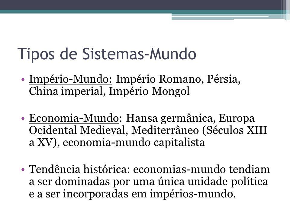 (...)desde a Antiguidade existiram economias- mundo.