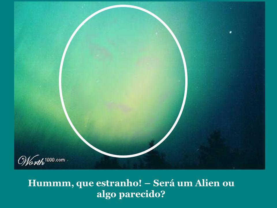 Hummm, que estranho! – Será um Alien ou algo parecido?