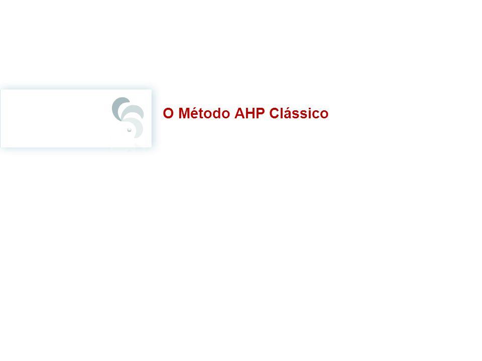 O Método AHP Clássico