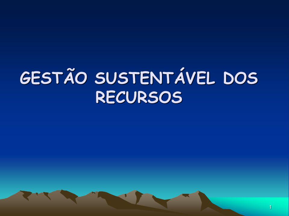 1 GESTÃO SUSTENTÁVEL DOS RECURSOS