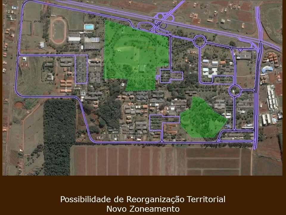 Aumento de Áreas Úteis em Regiões Estratégicas Possibilidade de Reorganização Territorial Novo Zoneamento