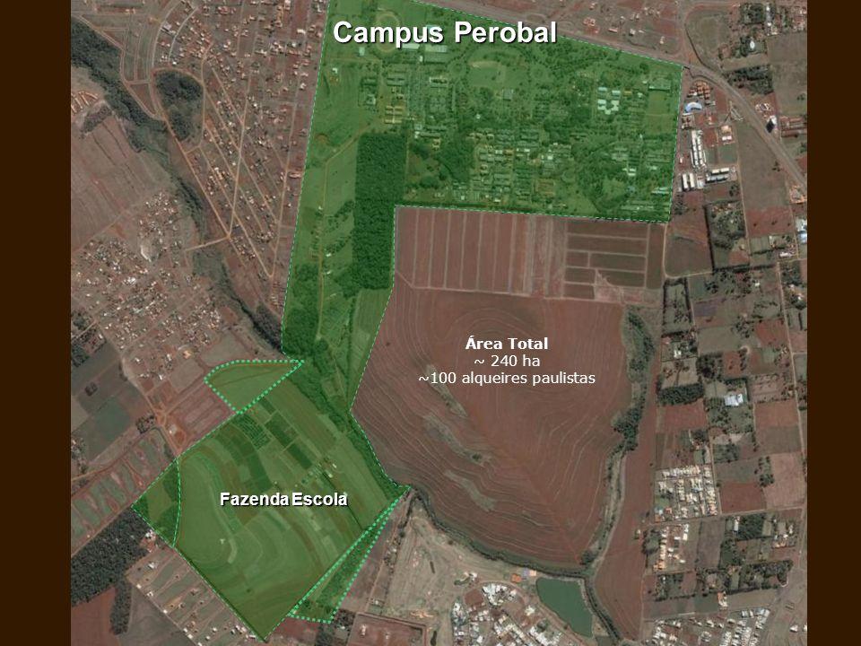 Fazenda Escola Campus Perobal Área Total ~ 240 ha ~100 alqueires paulistas