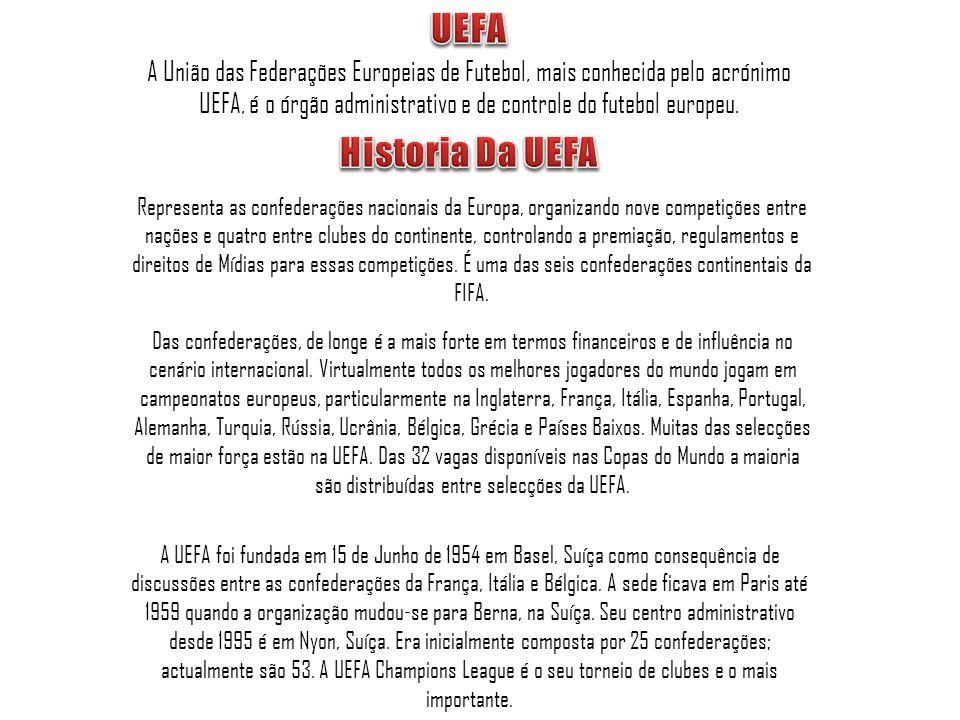 A União das Federações Europeias de Futebol, mais conhecida pelo acrónimo UEFA, é o órgão administrativo e de controle do futebol europeu. A UEFA foi