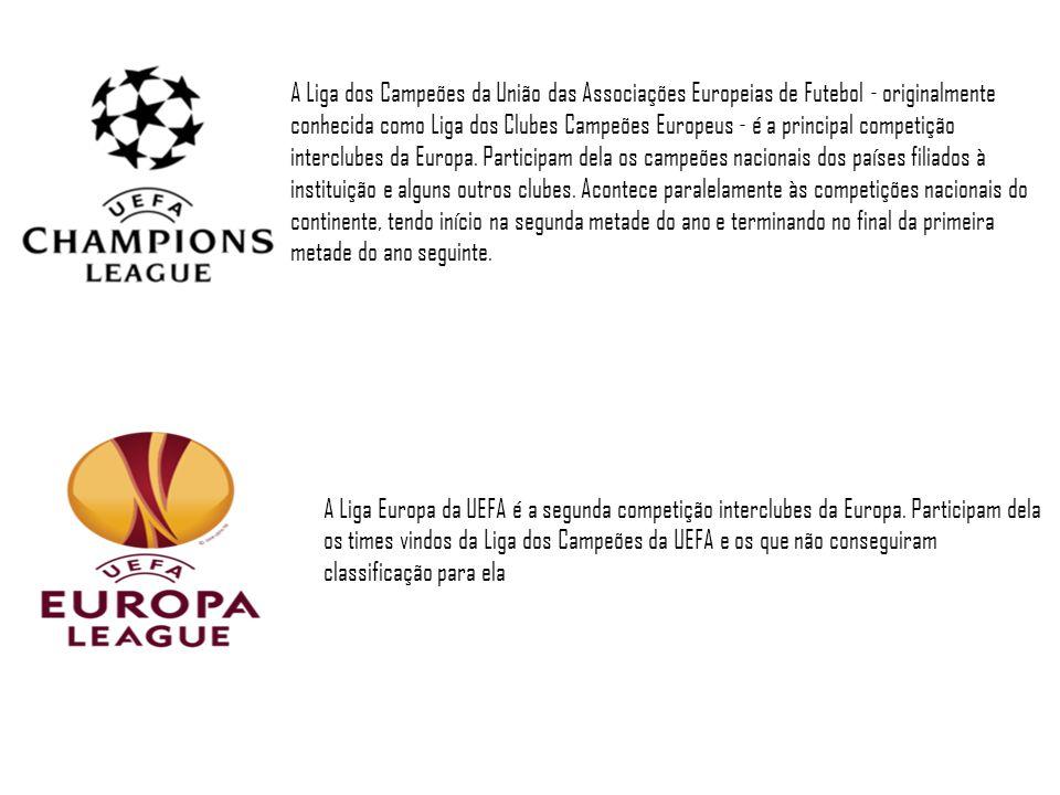 A Liga dos Campeões da União das Associações Europeias de Futebol - originalmente conhecida como Liga dos Clubes Campeões Europeus - é a principal com