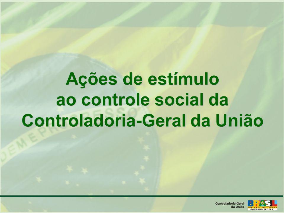 Ações de estímulo ao controle social da Controladoria-Geral da União