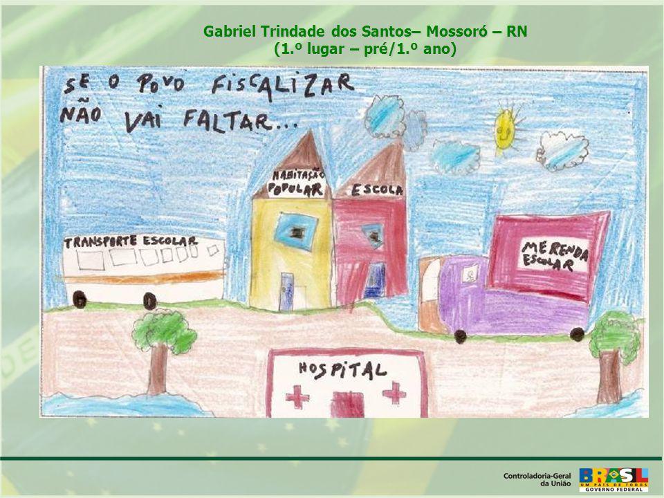 Gabriel Trindade dos Santos– Mossoró – RN (1.º lugar – pré/1.º ano)