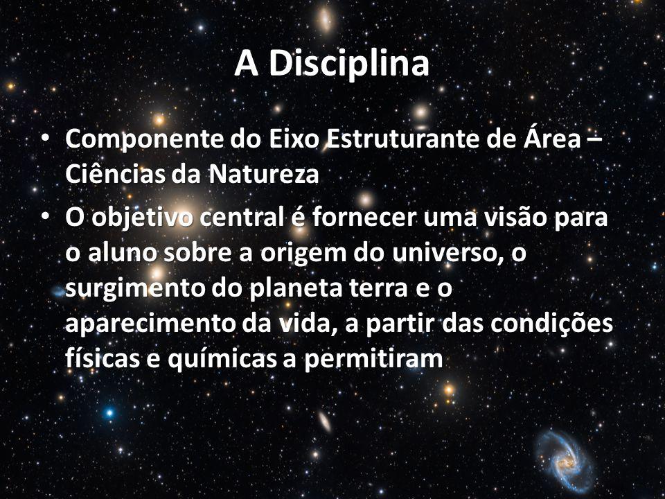 A Disciplina Componente do Eixo Estruturante de Área – Ciências da Natureza Componente do Eixo Estruturante de Área – Ciências da Natureza O objetivo