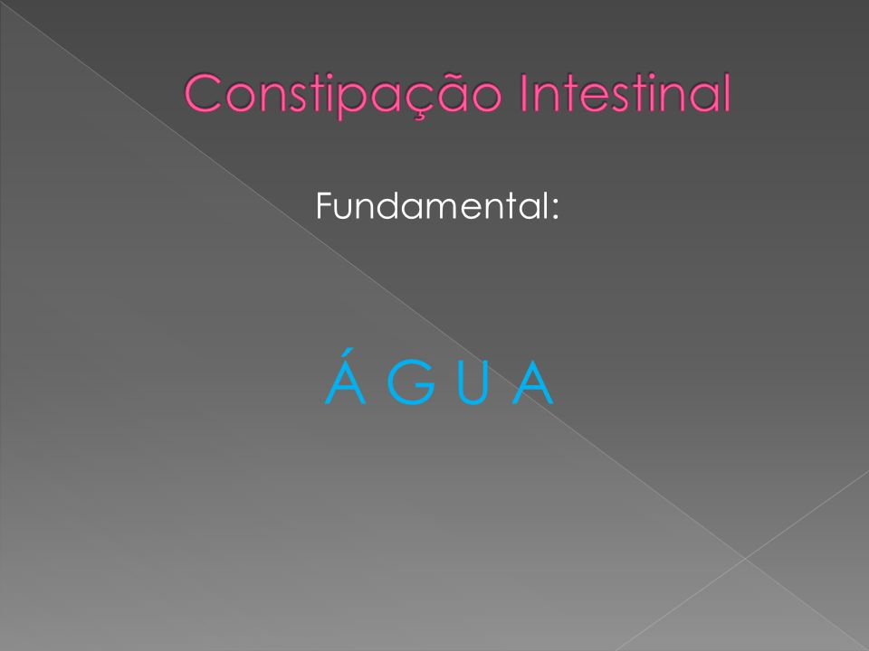 Fundamental: Á G U A