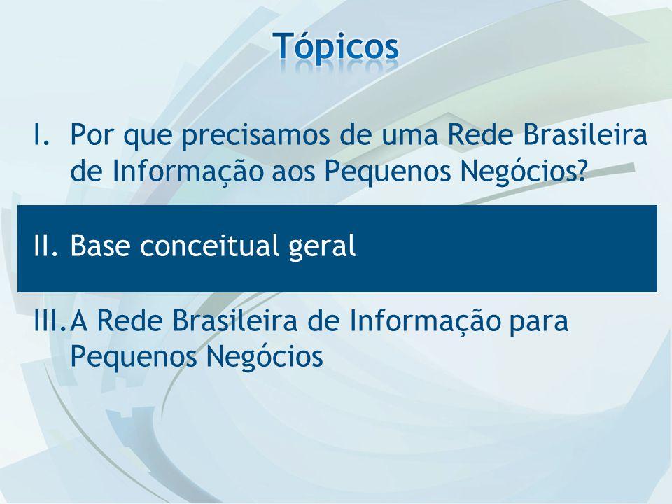 I.Por que precisamos de uma Rede Brasileira de Informação aos Pequenos Negócios.