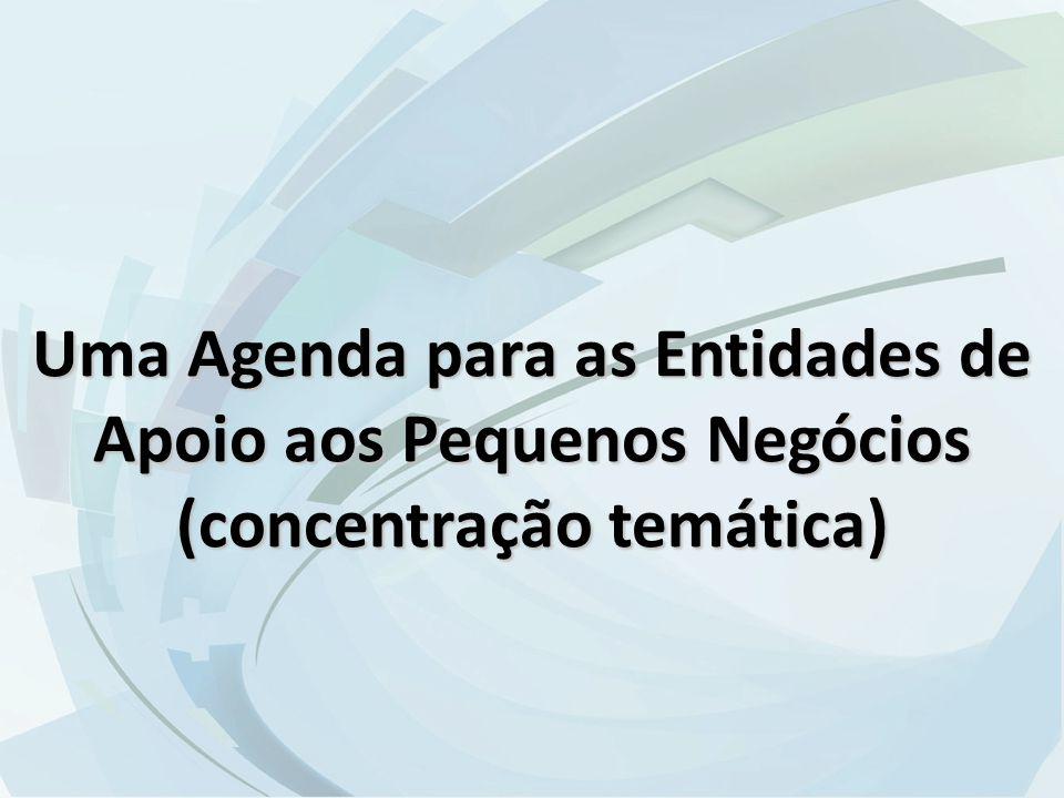 Uma Agenda para as Entidades de Apoio aos Pequenos Negócios (concentração temática)