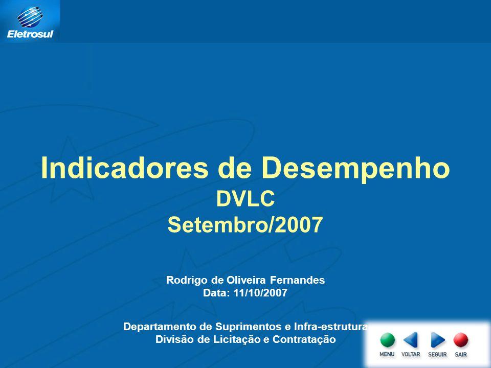 Apresentação dos resultados obtidos no mês de setembro de 2007, dos dados referentes a processos recebidos no mês e a evolução desses no ano.