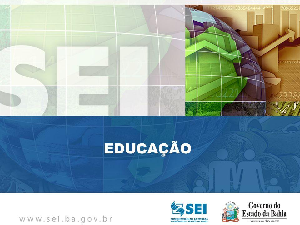 PIB TRIMESTRAL Bahia – 4º Trimestre de 2009 Bahia – 4º Trimestre de 2009 EDUCAÇÃO