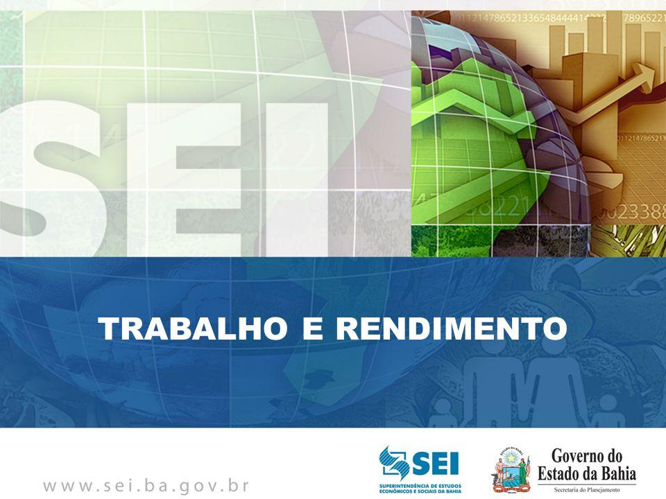 PIB TRIMESTRAL Bahia – 4º Trimestre de 2009 Bahia – 4º Trimestre de 2009 TRABALHO E RENDIMENTO