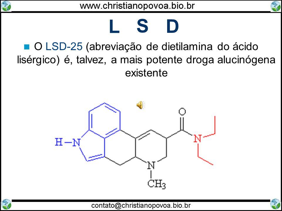 L O LSD-25 (abreviação de dietilamina do ácido lisérgico) é, talvez, a mais potente droga alucinógena existente S D
