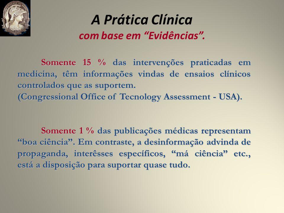 A Prática Clínica com base em Evidências.