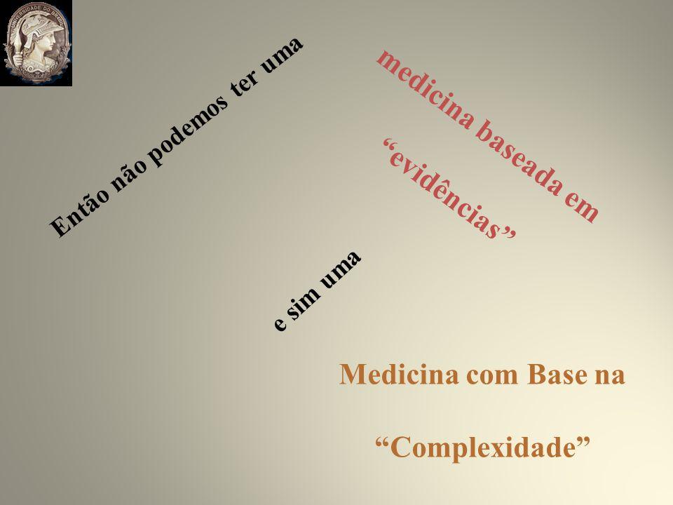 medicina baseada em evidências Então não podemos ter uma e sim uma Medicina com Base na Complexidade