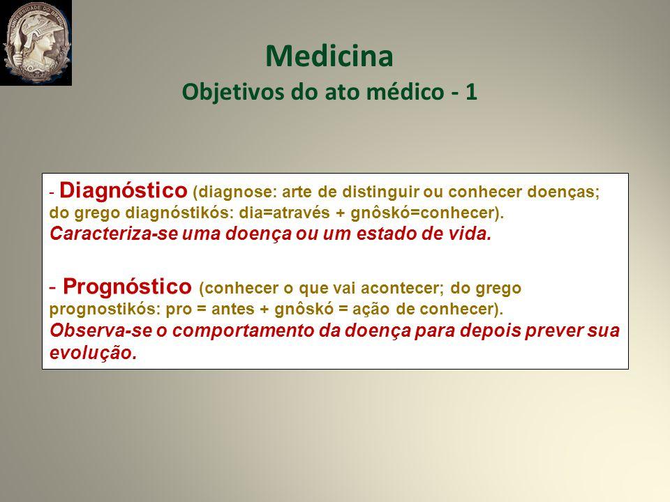 - Diagnóstico (diagnose: arte de distinguir ou conhecer doenças; do grego diagnóstikós: dia=através + gnôskó=conhecer).