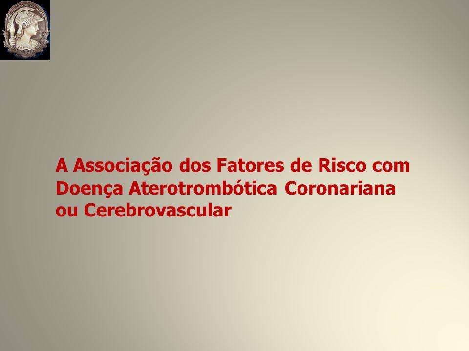 A Associação dos Fatores de Risco com Doença Aterotrombótica Coronariana ou Cerebrovascular