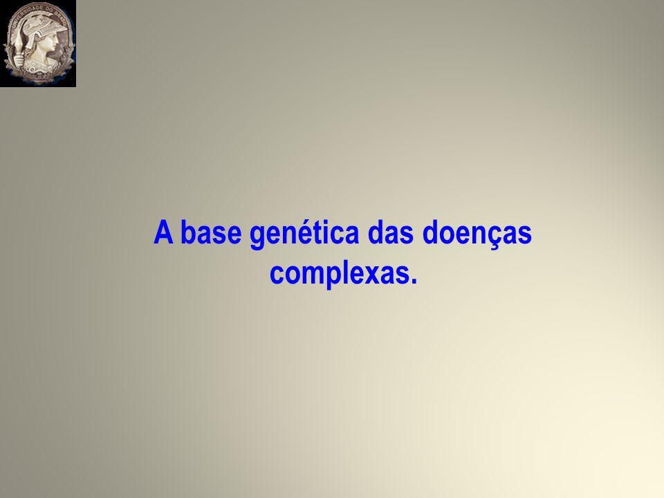 A base genética das doenças complexas.