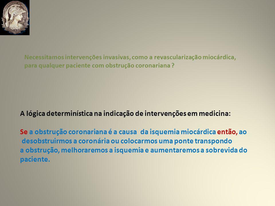 Necessitamos intervenções invasivas, como a revascularização miocárdica, para qualquer paciente com obstrução coronariana .