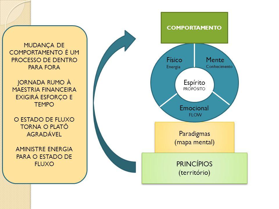 Paradigmas (mapa mental) Paradigmas (mapa mental) PRINCÍPIOS (território) PRINCÍPIOS (território) Espírito PROPÓSITO Físico Energia Mente Conhecimento