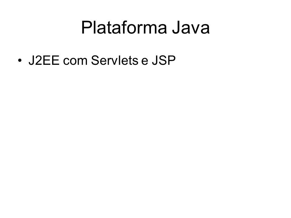 Plataforma Java J2EE com Servlets e JSP