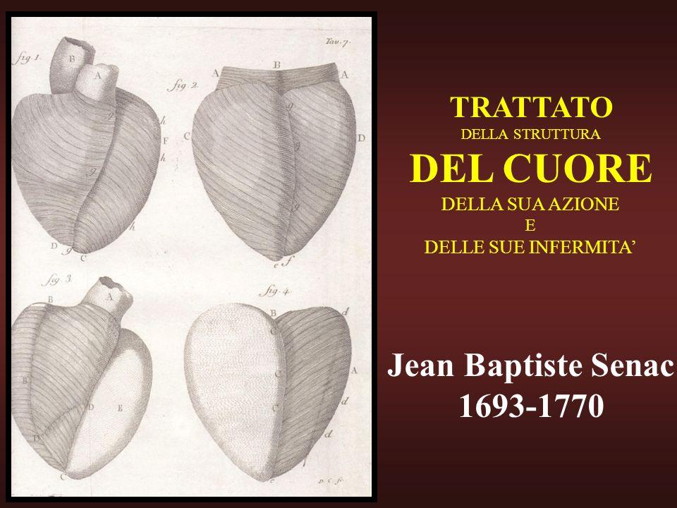 TRATTATO DELLA STRUTTURA DEL CUORE DELLA SUA AZIONE E DELLE SUE INFERMITA Jean Baptiste Senac 1693-1770