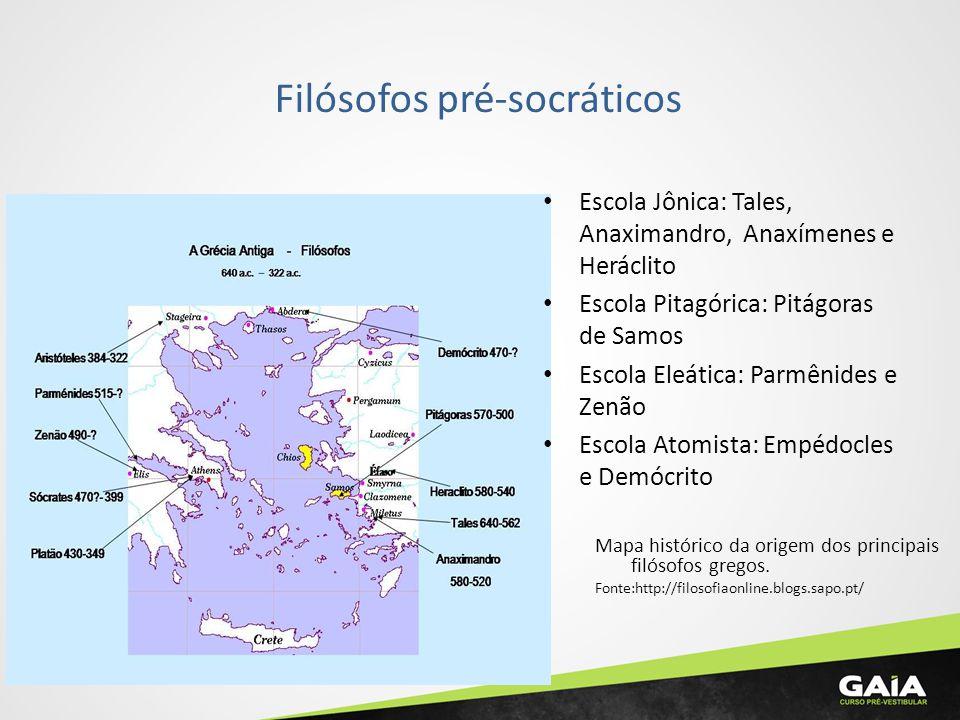 Tales de Mileto (624 a 546 a.C.) Ascendência fenícia.