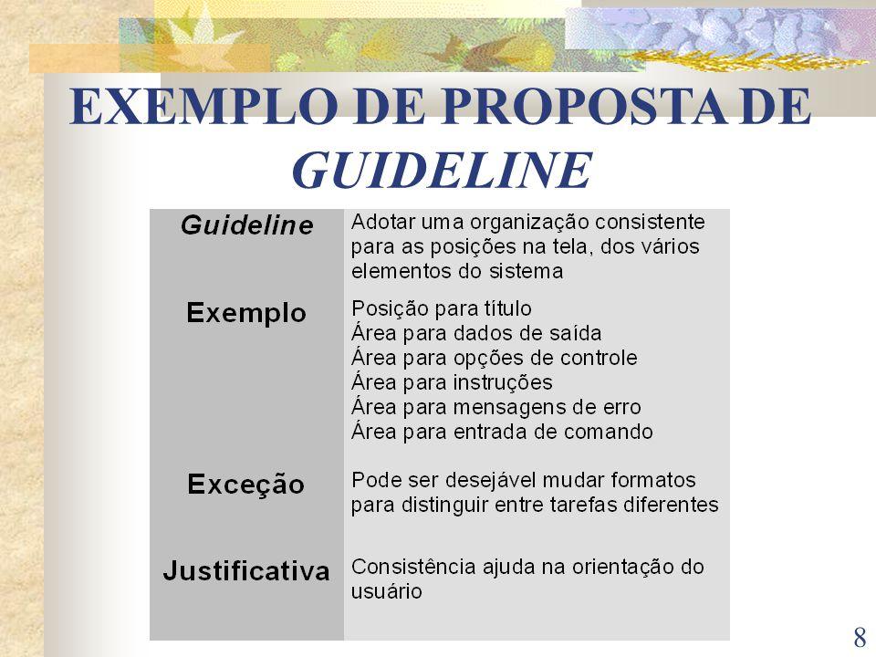 8 EXEMPLO DE PROPOSTA DE GUIDELINE