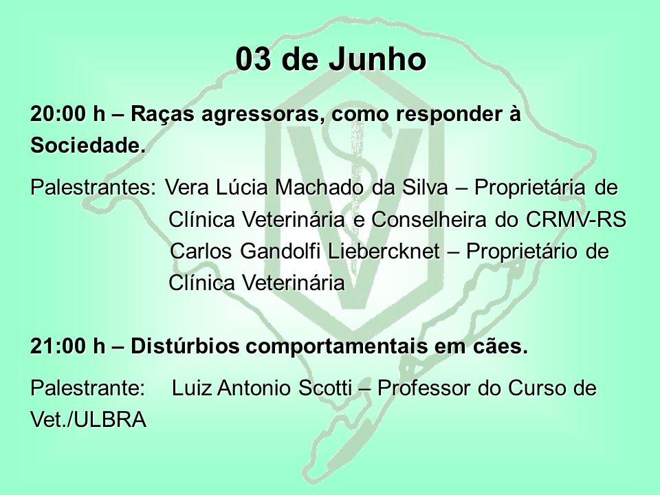 03 de Junho 20:00 h – Raças agressoras, como responder à Sociedade.