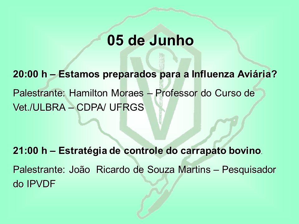 05 de Junho 20:00 h – Estamos preparados para a Influenza Aviária.