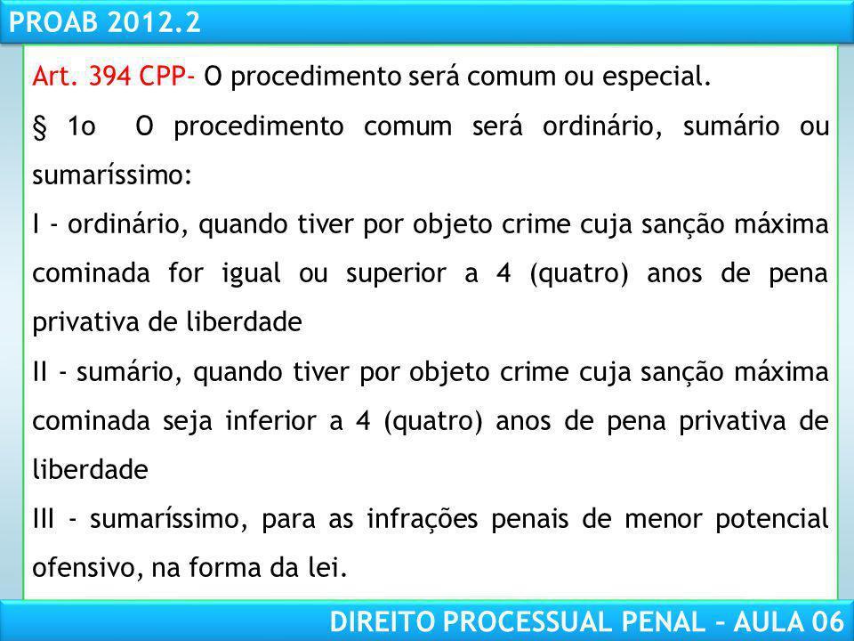 RESPONSABILIDADE CIVIL AULA 1 PROAB 2012.2 DIREITO PROCESSUAL PENAL – AULA 06 Elaboração do Termo Circunstanciado (art.