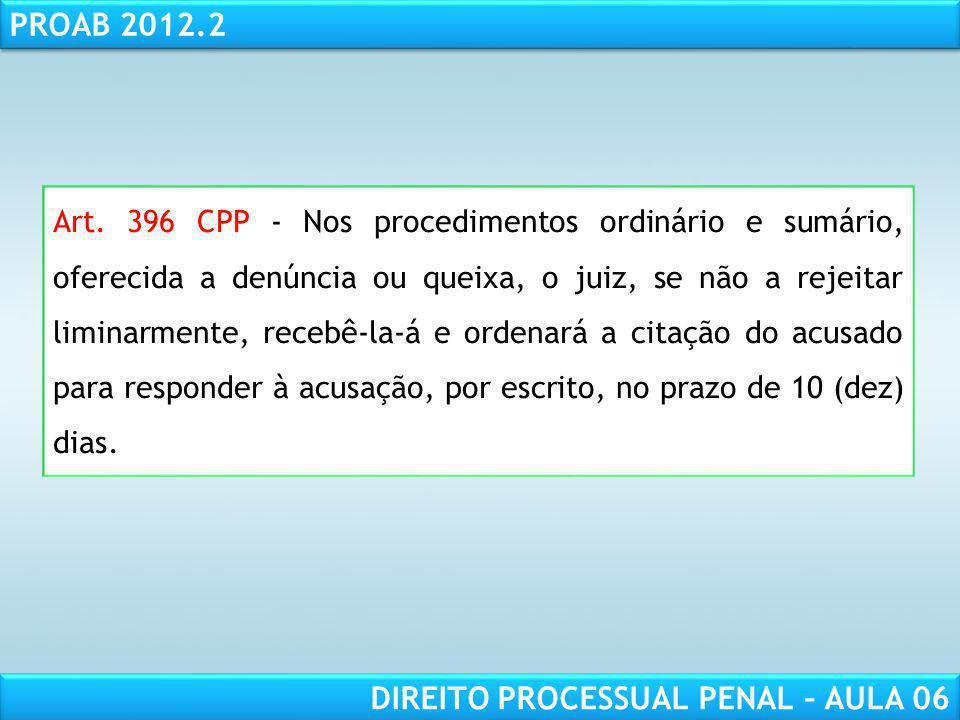 RESPONSABILIDADE CIVIL AULA 1 PROAB 2012.2 DIREITO PROCESSUAL PENAL – AULA 06 Jecrim Audiência Preliminar (Proposta T.