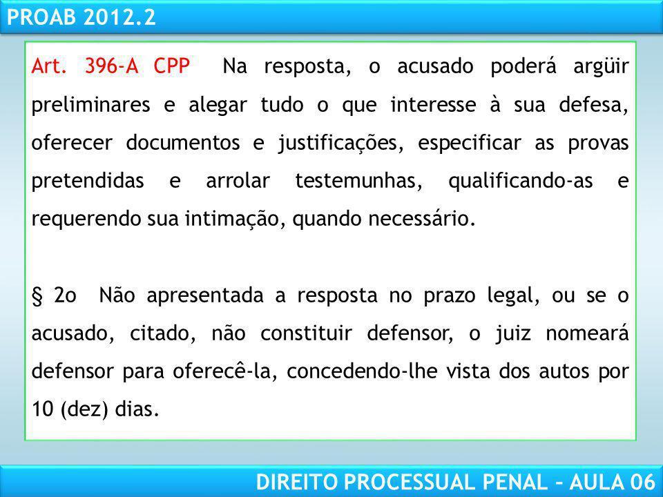 RESPONSABILIDADE CIVIL AULA 1 PROAB 2012.2 DIREITO PROCESSUAL PENAL – AULA 06 Audiência de instrução, debates e julgamento (audiência una): Tomada de declarações do ofendido; Oitiva das testemunhas de acusação; Oitiva das testemunhas de defesa; Esclarecimento do(s) perito(s) (desde que requerido pelas partes); Acareações (se for o caso); Reconhecimento de pessoas e coisas (se for o caso); Interrogatório do acusado; Alegações finais – debates – orais (20 min + 10 min)* Sentença** Continuação - Procedimentos em espécie (Sumário)