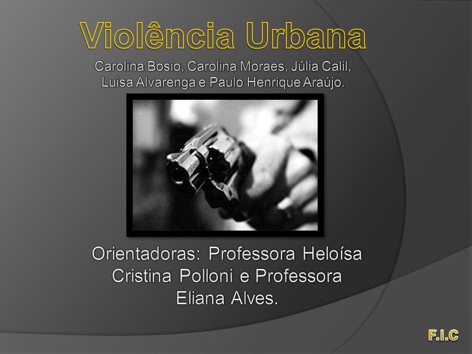 A violência urbana é a violência que ocorre nos centros urbanos, como nas cidades São Paulo e Rio de Janeiro.