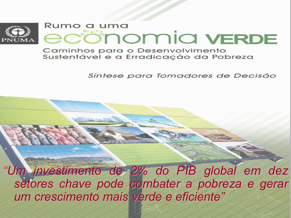 Alocação de recursos em 10 setores estratégicos para esverdear a economia.