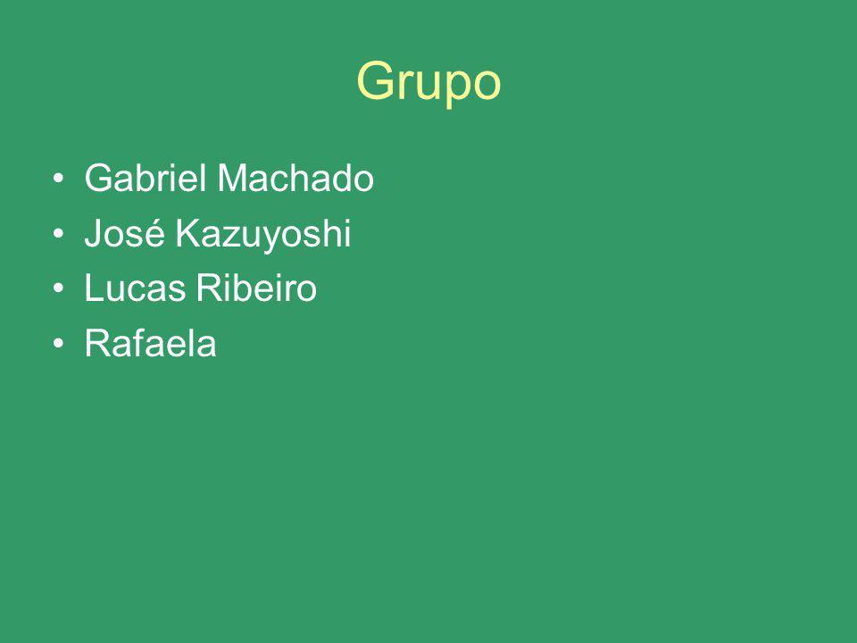 Grupo Gabriel Machado José Kazuyoshi Lucas Ribeiro Rafaela